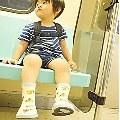 【熊朵朵媽】- Kinderspel 韓國時尚寶寶的第一品牌 水滴精靈寶貝小雨靴 ---呱呱大嘴鳥