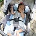 【愛麗絲媽】air cossi 超透氣抗菌天絲坐墊+嬰兒推車枕頭 一款可以支撐寶寶頭頸的透氣坐墊
