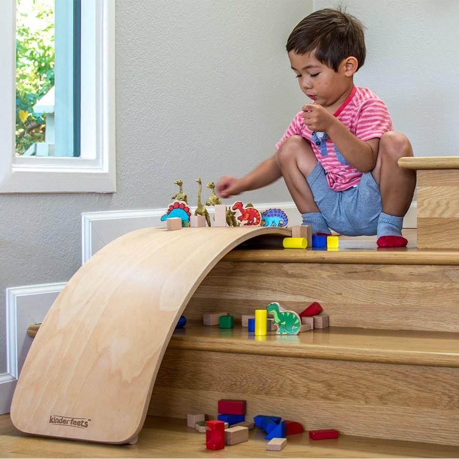 Kinderfeets 好好玩微笑平衡板-彎板(胡桃木)