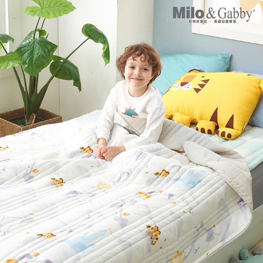 Milo & Gabby兒童大人款輕柔莫代爾薄被145*180cm (城堡王子Tom小虎)