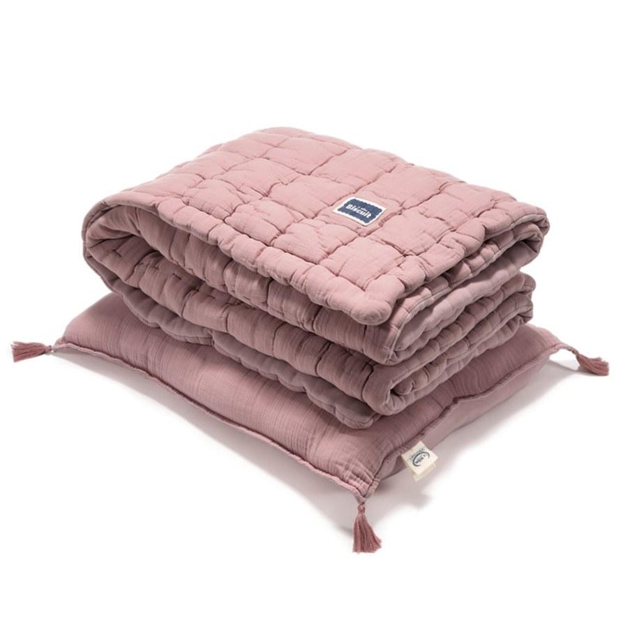 La Millou Biscuit 100%純棉_餅乾小童枕+紗布被套組-大地紫
