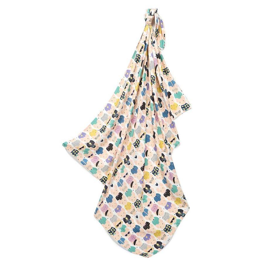 La Millou 包巾-竹纖涼感巾(繽紛萌萌豬)