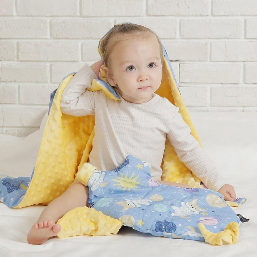 【彌月禮盒】La Millou 豆豆小豬枕+單面巧柔豆豆毯(多款可選)-附禮盒包裝+送禮提袋