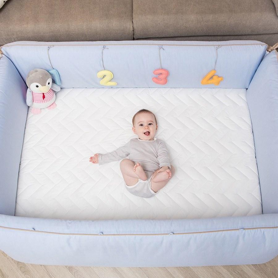【預購6/16(三)出貨】【gunite】沙發嬰兒床_安撫陪睡式0-6歲(丹麥藍)