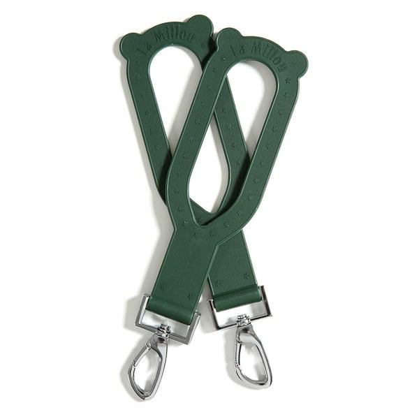 La Millou DOLCE VITA 杜絲時尚熊耳掛環-橡膠款-墨綠