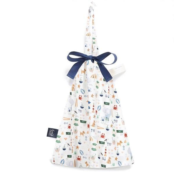 【預購商品,5/3起陸續出貨】La Millou 可愛束口袋手提包-海灘小象(藍)