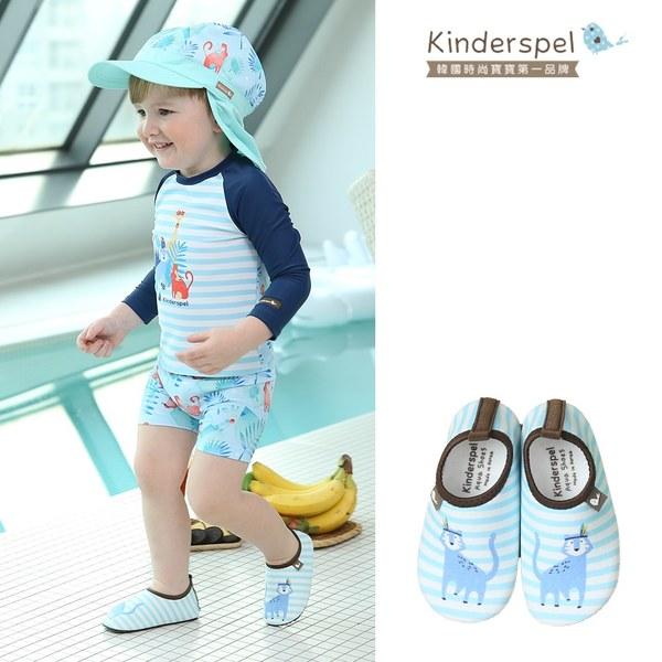 Kinderspel 玩水趣寶寶泳鞋-海灘貓咪