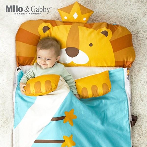 Milo & Gabby動物好朋友-二合一超柔軟四季睡袋 (LONNIE小獅王)