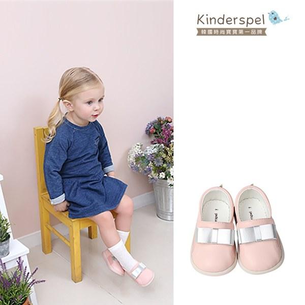 Kinderspel 郊遊趣休閒學步鞋-粉紅小仕女