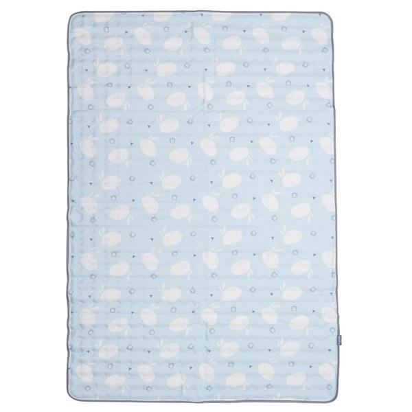 【韓國lolbaby】Hi Jell-O涼感蒟蒻床墊加大_防水隔尿款 (藍天兔兔)