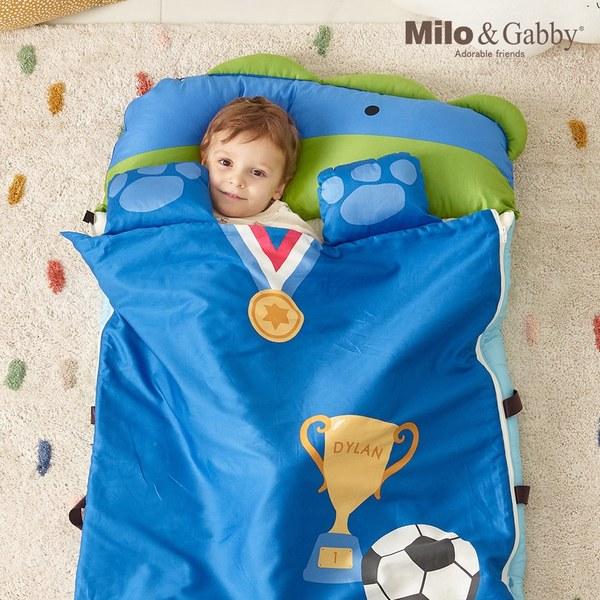Milo & Gabby動物好朋友-二合一超柔軟四季睡袋(DYLAN足球員恐龍)