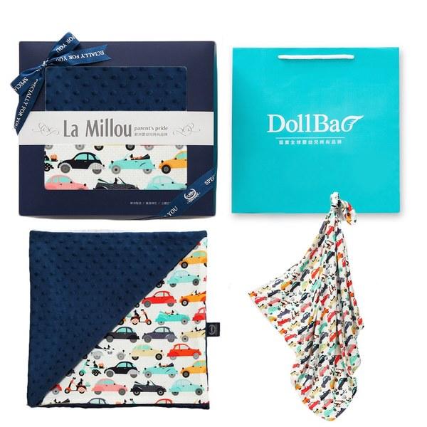 【彌月禮盒】La Millou竹纖涼感巾+單面巧柔豆豆毯-附禮盒包裝+送禮提袋