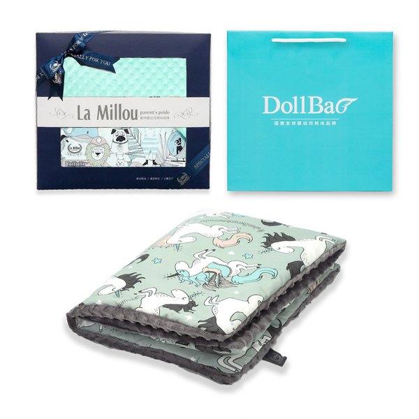 【彌月禮盒】La Millou 豆豆防踢背心(分腿扣)+豆豆小豬枕(多款可選)-附禮盒包裝+送禮提袋