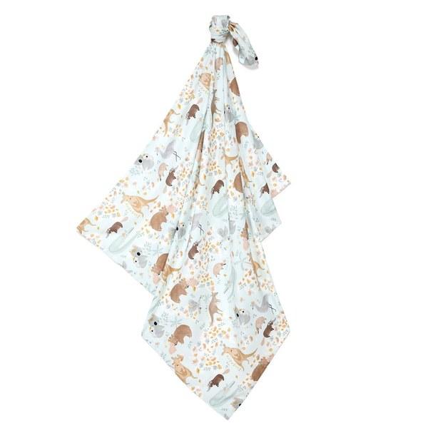 La Millou 包巾-竹纖涼感巾-澳洲森友會(藍底)