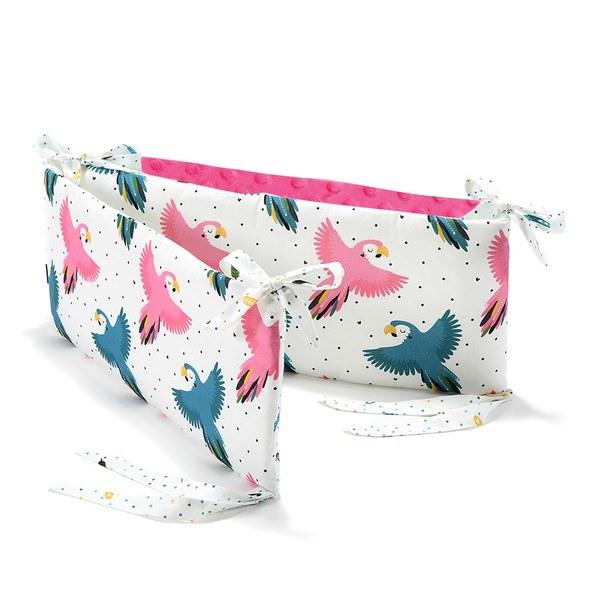 La Millou 拉米洛100%純棉床圍護欄-糖果鸚鵡(桃氣小甜心)