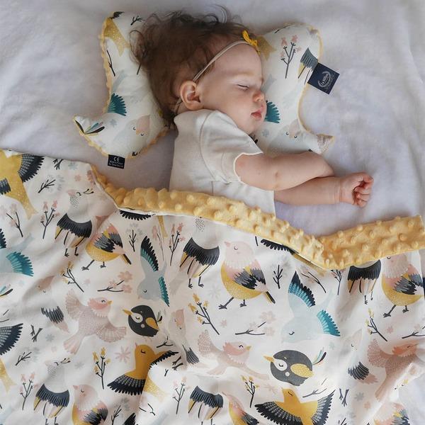 【彌月禮盒】La Millou 巧柔豆豆毯標準款+天使枕+豆豆安撫兔23CM(多款可選)-附禮盒包裝+送禮提袋