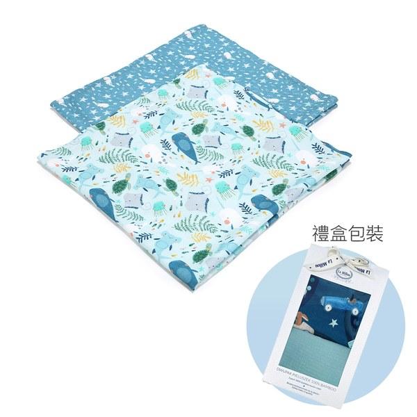 【彌月禮盒】La Millou 豆豆天使枕+竹纖涼感巾(多款可選)-附禮盒包裝+送禮提袋