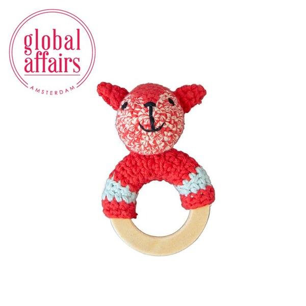 global affairs 童話手工編織安撫搖鈴_林地系列(小松鼠)