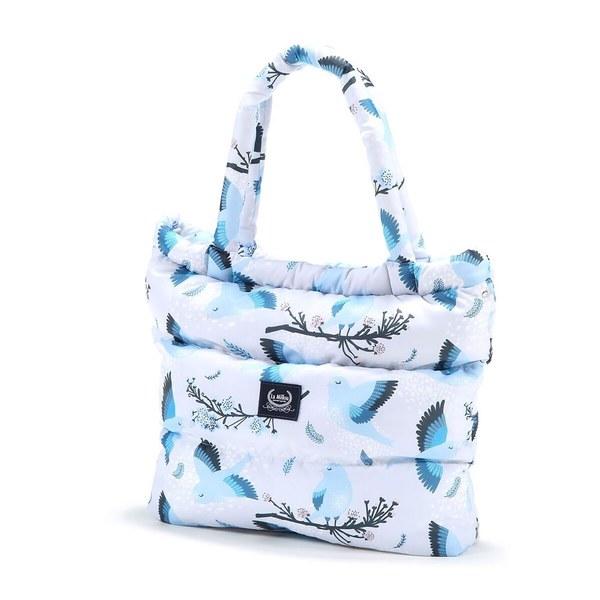 La Millou Aspen防水空氣時尚媽媽購物包-藍色雪鳥