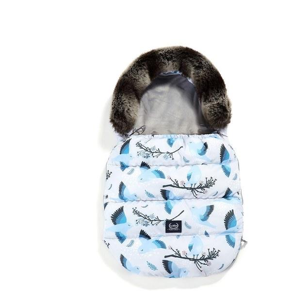 La Millou Aspen防水空氣時尚保暖推車睡袋-藍色雪鳥(舒柔深灰)