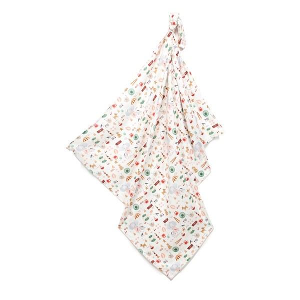 La Millou 包巾-竹纖涼感巾-海灘小象(紅)