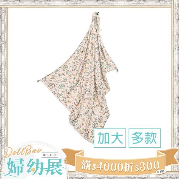 La Millou 包巾-竹纖涼感巾(加大)_140x110cm-星空胖柯基(藍底)