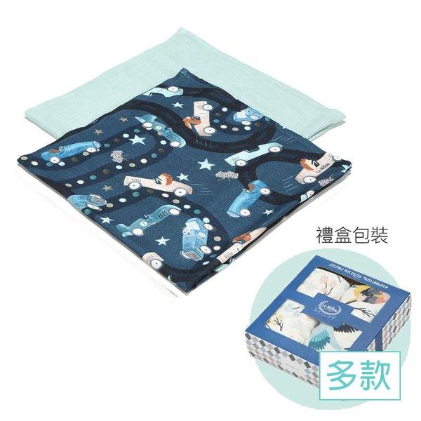 【預購商品,5/3起陸續出貨】La Millou 100%竹纖銀離子紗布巾兩入組70x70cm-海灘小象(紅)