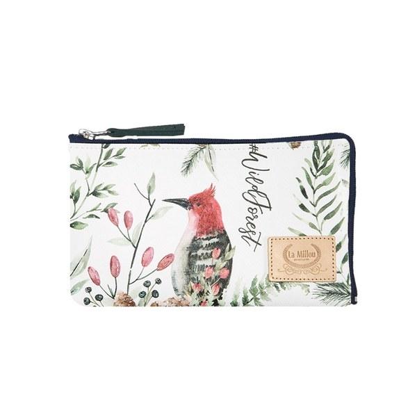 La Millou FEERIA妃芮亞多功能時尚mini手拿包(11*18cm)-綠葉森林