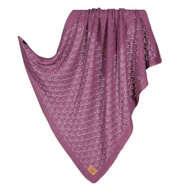 La Millou Tender 100%純棉針織毯(honey)80x90cm-葡萄紫