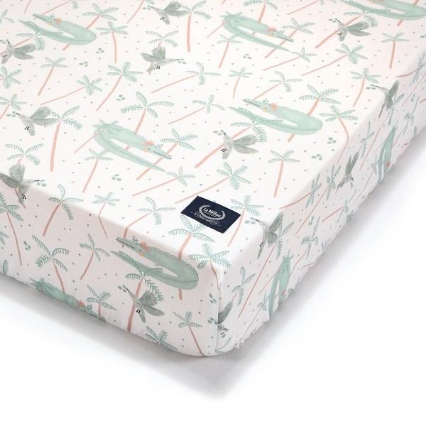 La Millou 拉米洛北歐風_嬰兒床單-澳洲森友會(粉底)(70cmx140cm)