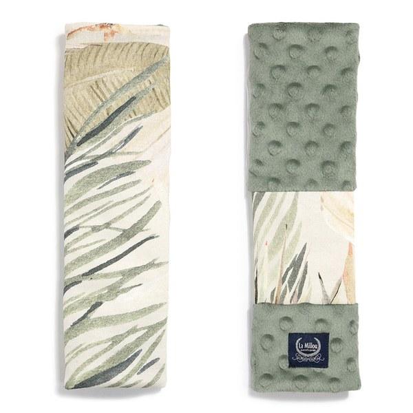 【預購商品,5/3起陸續出貨】La Millou Jersey豆豆安全帶保護套-棕櫚可可樹(抹茶鮮牛奶)
