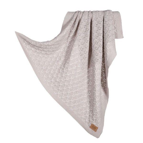 La Millou Tender 100%純棉針織毯(honey)80x90cm-香草灰