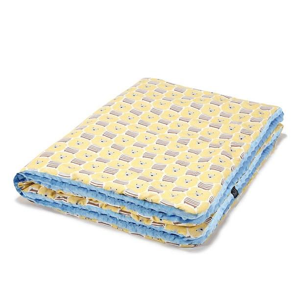 La Millou 暖膚豆豆毯-蠟筆奶油獅(蒙地卡羅藍)