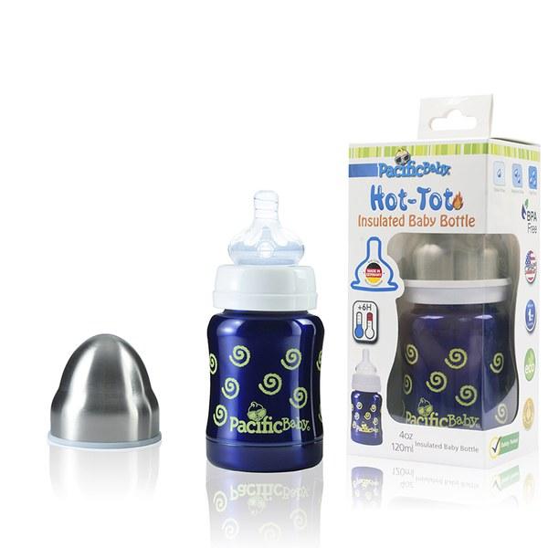 Pacific Baby 美國不鏽鋼保溫太空瓶4oz (勇氣藍)