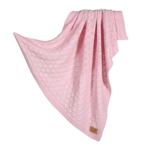 La Millou Tender 100%純棉針織毯(honey)80x90cm-蛋糕粉