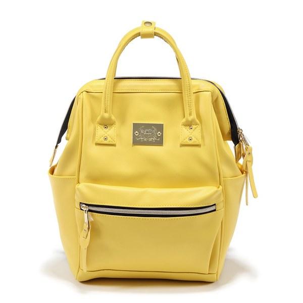 La Millou DOLCE VITA 杜絲時尚媽媽後背包_皮革款-亮麗黃