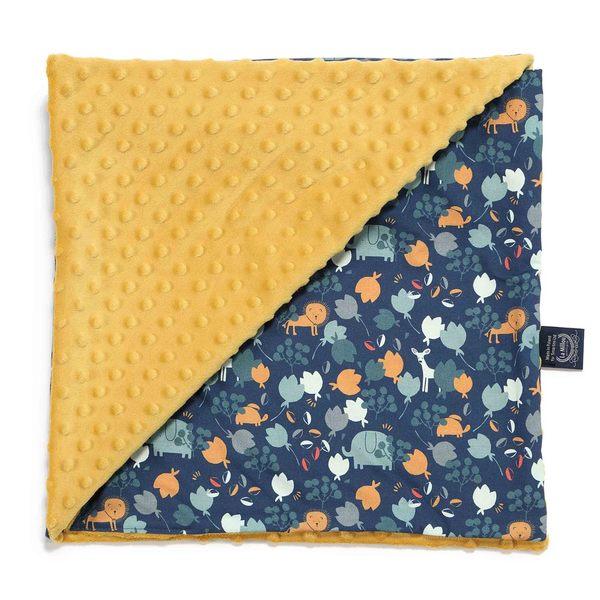 La Millou 單面巧柔豆豆毯-小棕獅花園(濃甜蜂蜜黃)
