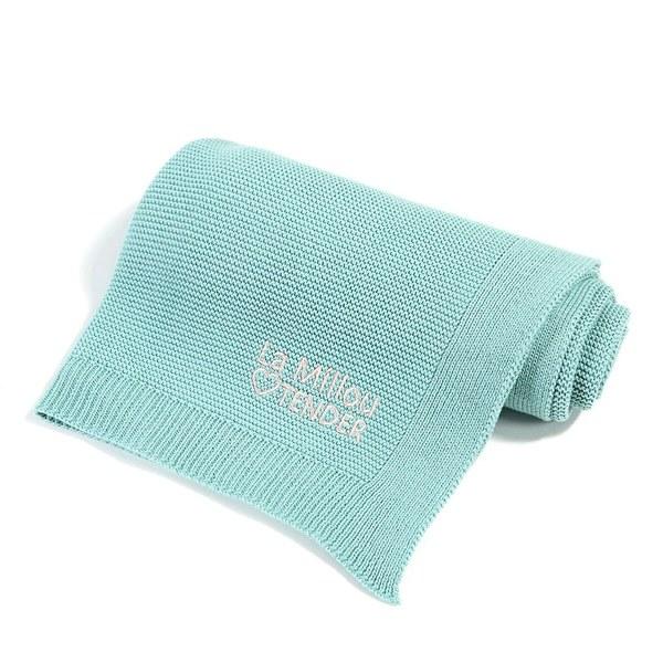 La Millou Tender針織毯-粉嫩糖果綠