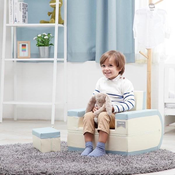 La Millou 包巾-竹纖涼感巾(加大)_140x110cm-威基基椰樹(藍底)
