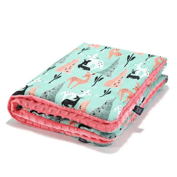 【原售價$2280】La Millou 暖膚豆豆毯-限量款小鹿斑比(夢幻珊瑚粉)