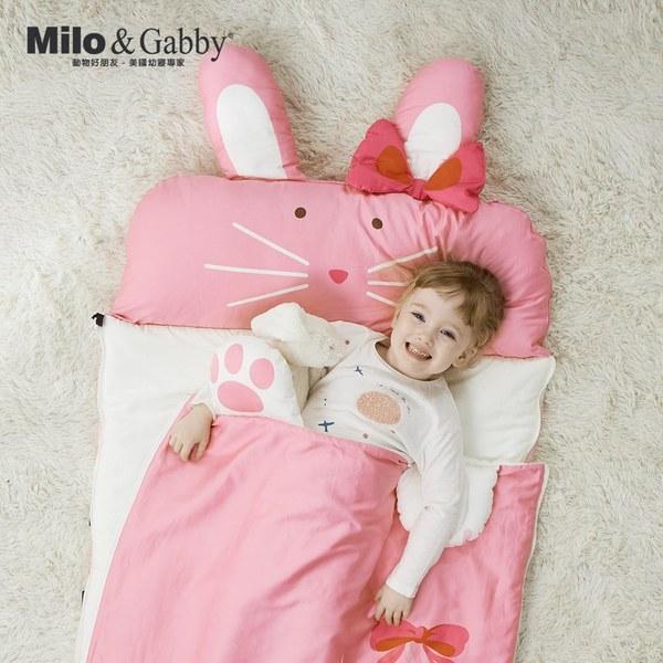 Milo & Gabby動物好朋友-二合一超柔軟四季睡袋 (LOLA芭蕾舞兔兔)