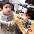 【噹噹媽】- Soopsori 蘇索力原粹木積木-磁性積木系列(26P磁性積木組)~對幼兒的手腦協調很有幫助喔!