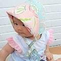【小桃媽】- kinderspel輕柔童話花帽:一帽二穿,輕鬆營造baby fashion look