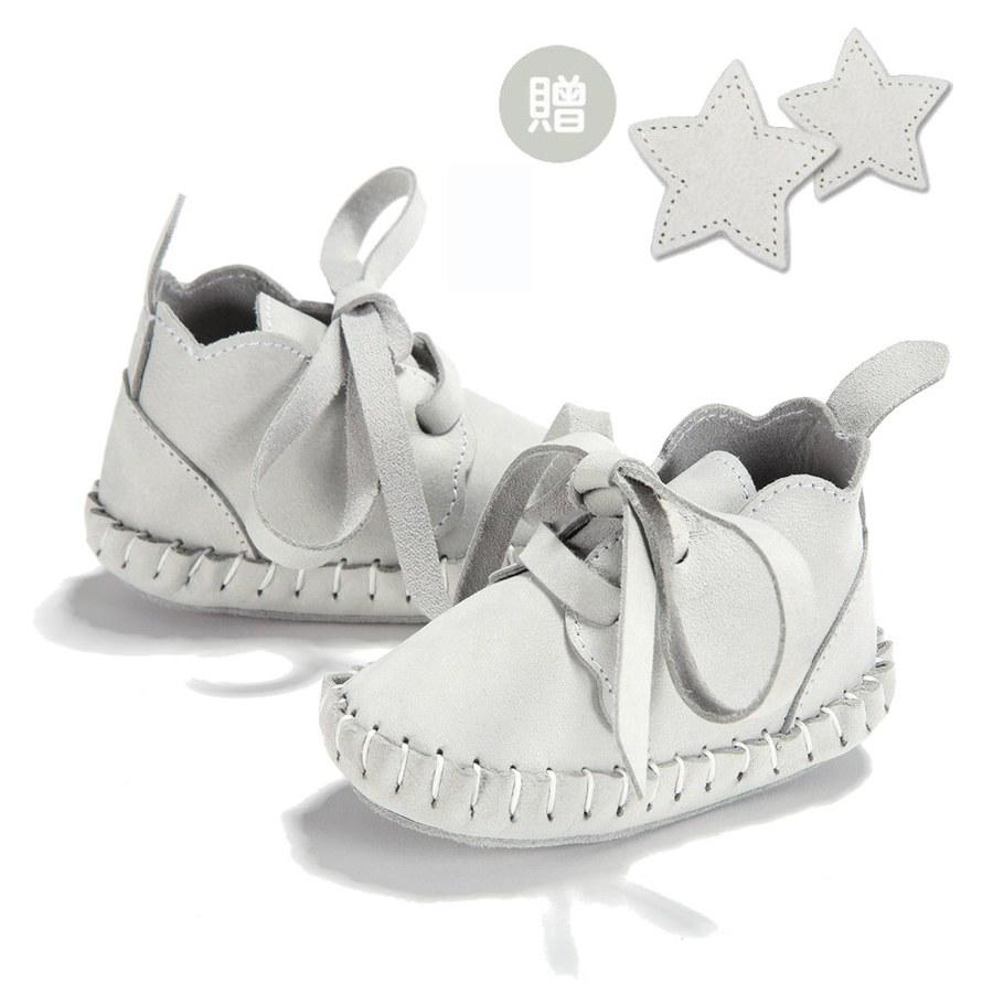 La Millou Moonies頂級羊皮嬰兒鞋禮盒6-11m_綁帶款(沙士)