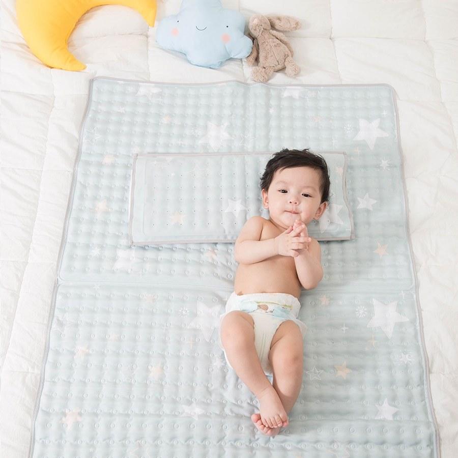 【韓國Lolbaby】Hi Jell-O涼感蒟蒻床墊加大_涼嬰兒兒童床墊(海星星)