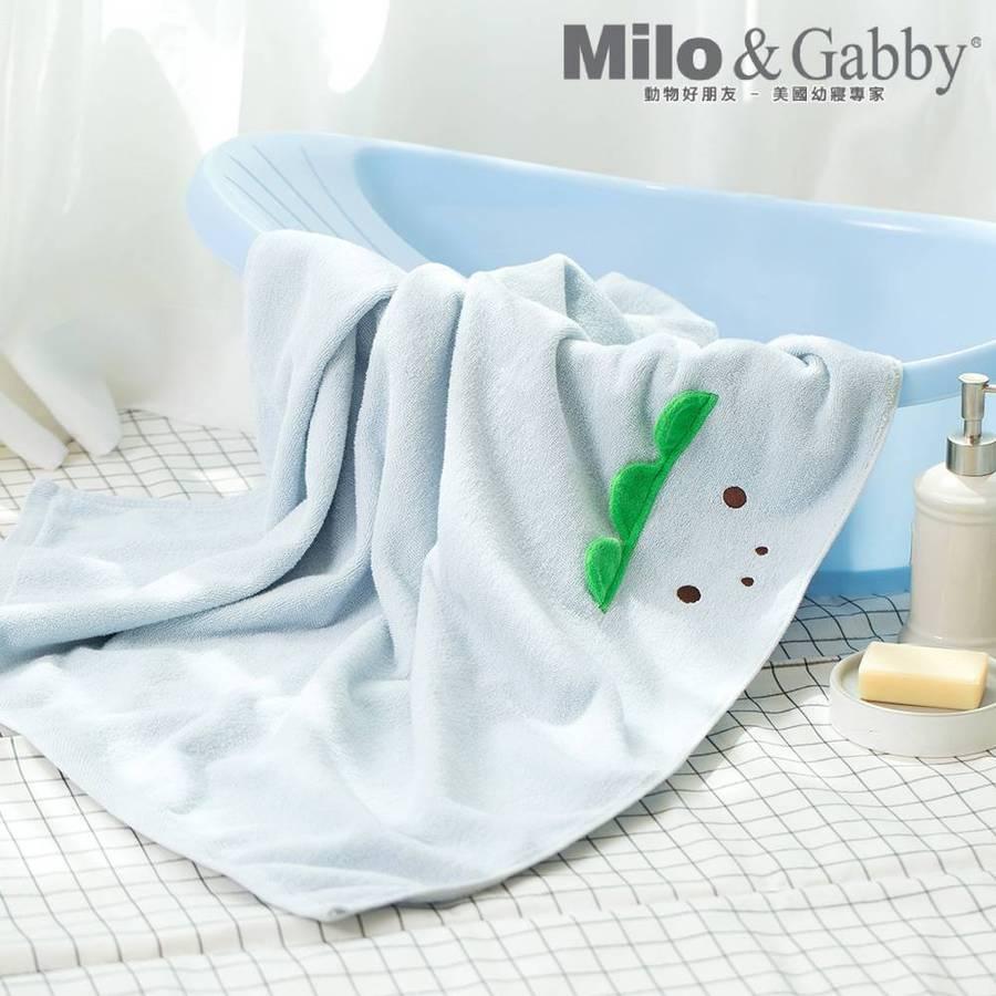 100%純棉吸濕毛巾_可愛大浴巾_85x120cm (Dylan恐龍)
