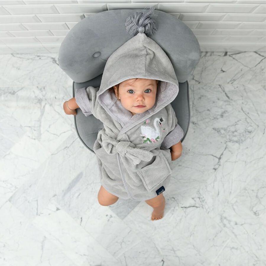 La Millou Jersey 時尚篷篷睡袍浴袍_加大2.5-5Y-微笑彩魟魚(夢幻珊瑚粉)