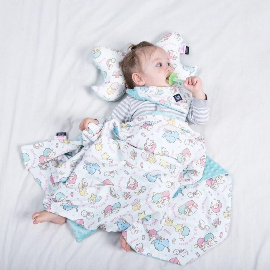 【2020限定聯名款】La Millou 單面巧柔豆豆毯-Little Twin Stars甜點派對篇(粉嫩薄荷綠)