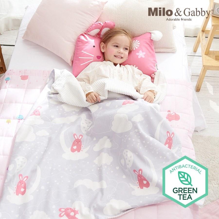 Milo & Gabby 動物好朋友-雙面寶寶棉蓋毯(月亮LOLA)