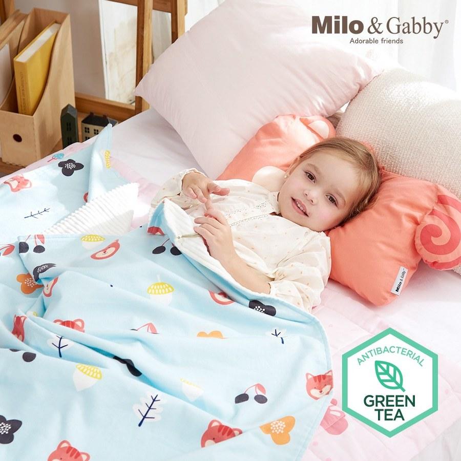 Milo & Gabby 動物好朋友-雙面寶寶棉蓋毯(LUCY花園)